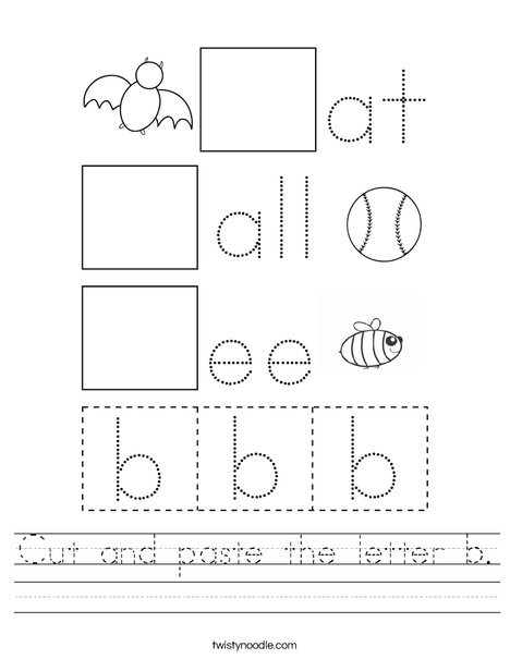 cut and paste the letter b worksheet png 468x609 q85