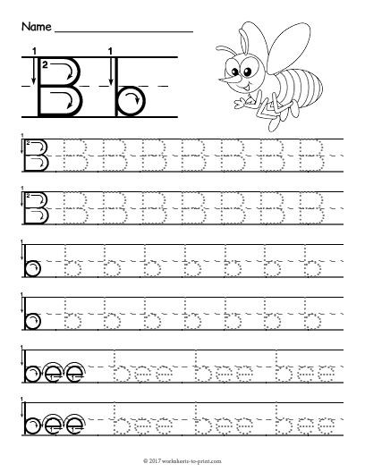 Letter A and B Worksheets Free Printable Tracing Letter B Worksheet