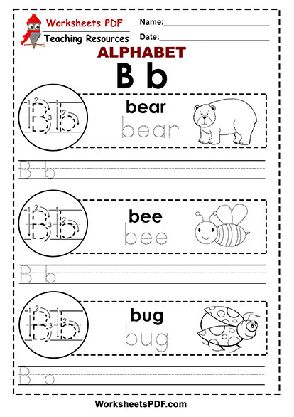 Letter A and B Worksheets Letter B A to Z Alphabet Worksheets Pdf