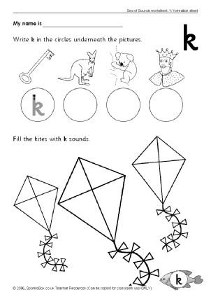 Letter A Phonics Worksheet Letter K Phonics Activities and Printable Teaching Resources