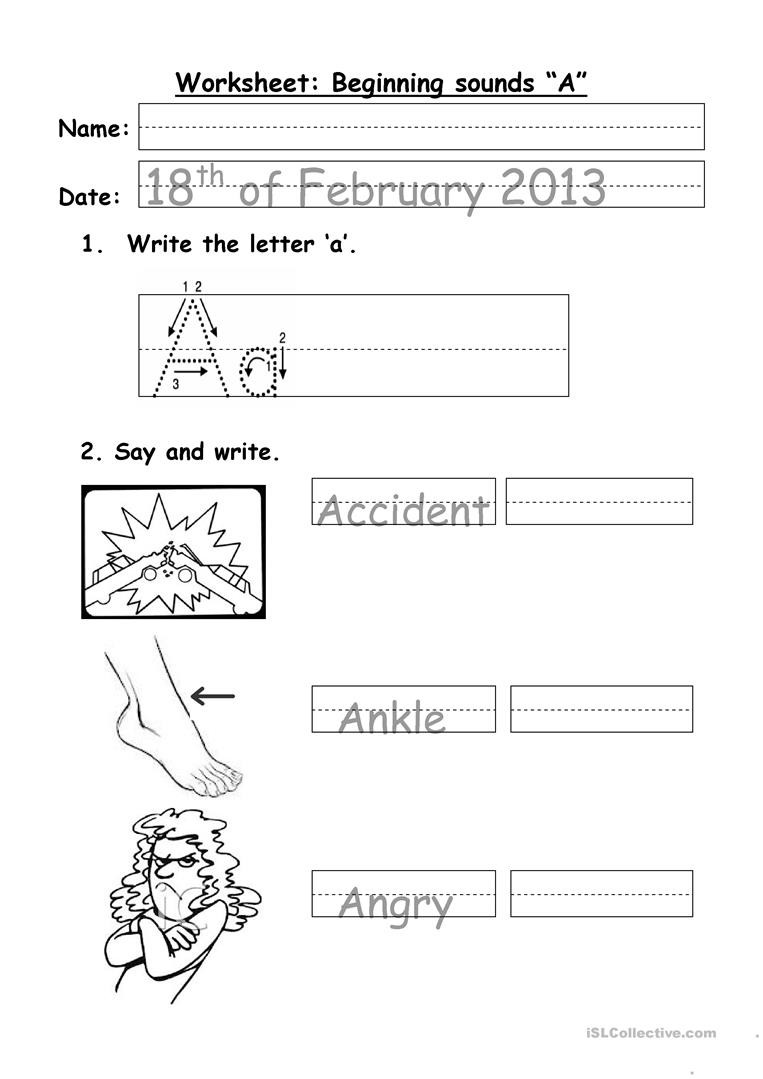 simple phonics letter a worksheet templates layouts 1