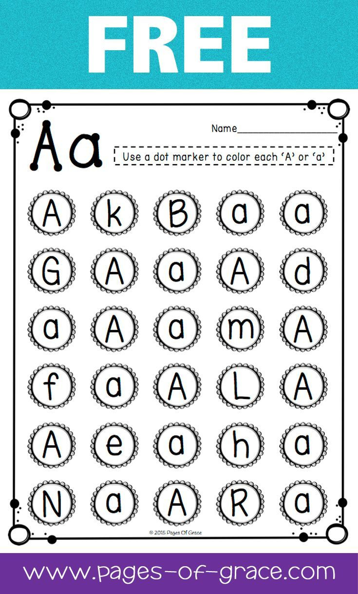 Letter A Recognition Worksheets are You Looking for some Great Activities for Teaching