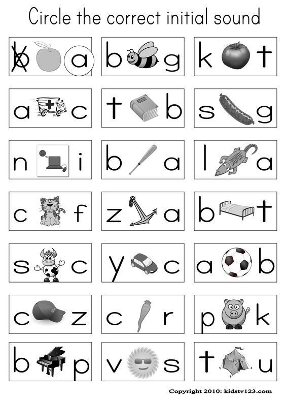 Letter A sound Worksheets Alphabet Phonics Worksheets with sounds Adding and