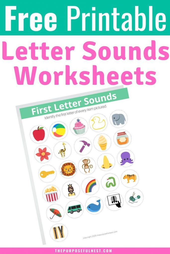 First Letter Sounds Worksheet 683x1024