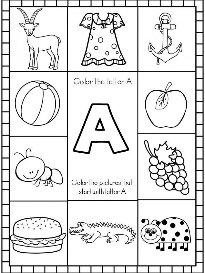 Letter A sounds Worksheets Letter sounds Worksheets