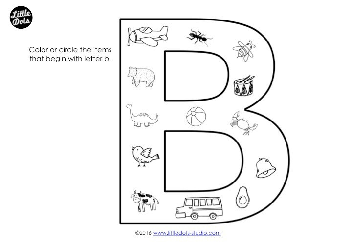 Letter B sound Worksheets Preschool Letter B Activities and Worksheets