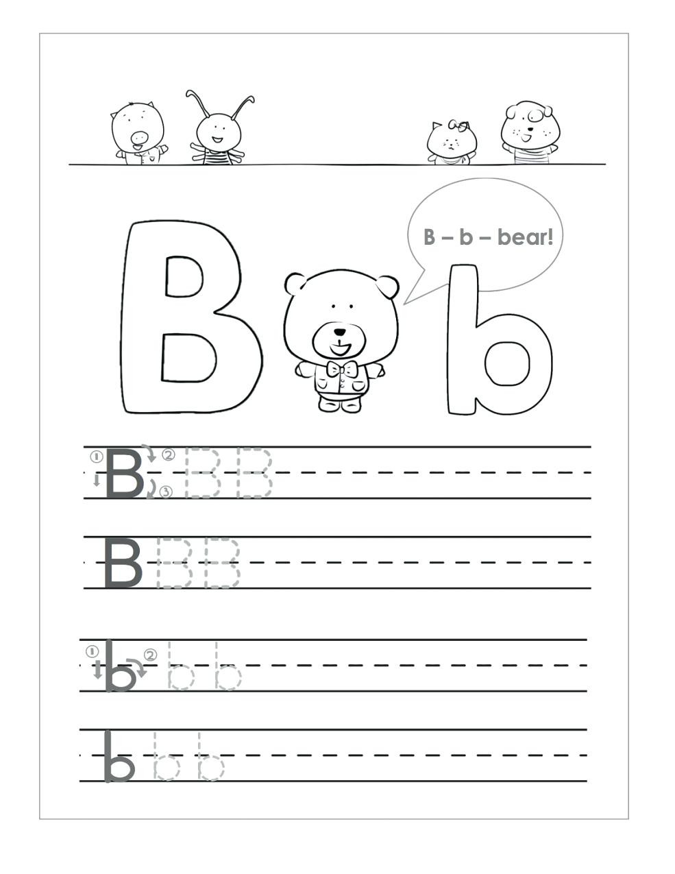 Letter B Worksheets Kindergarten Letter B Worksheets to Learning Letter B Worksheets