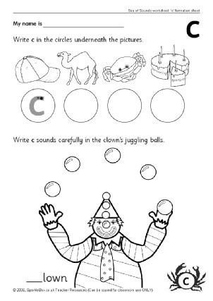 Letter C Phonics Worksheets Letter C Phonics Activities and Printable Teaching Resources