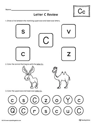 All About Letter C Worksheet