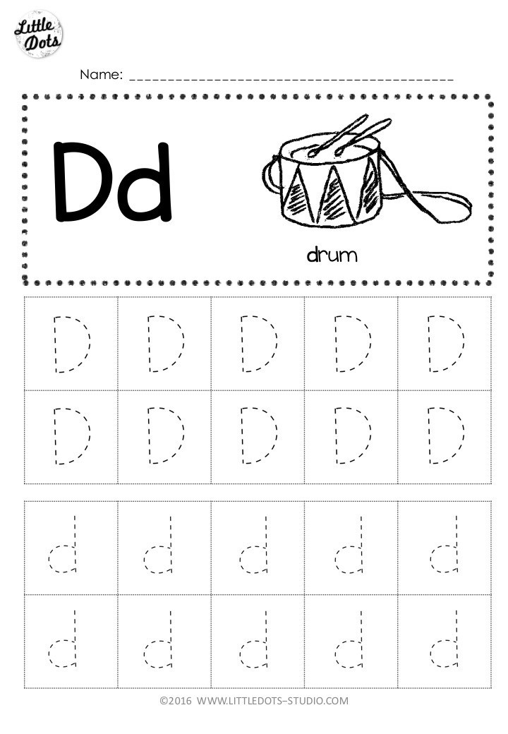 Letter D Worksheets Kindergarten Free Letter D Tracing Worksheets