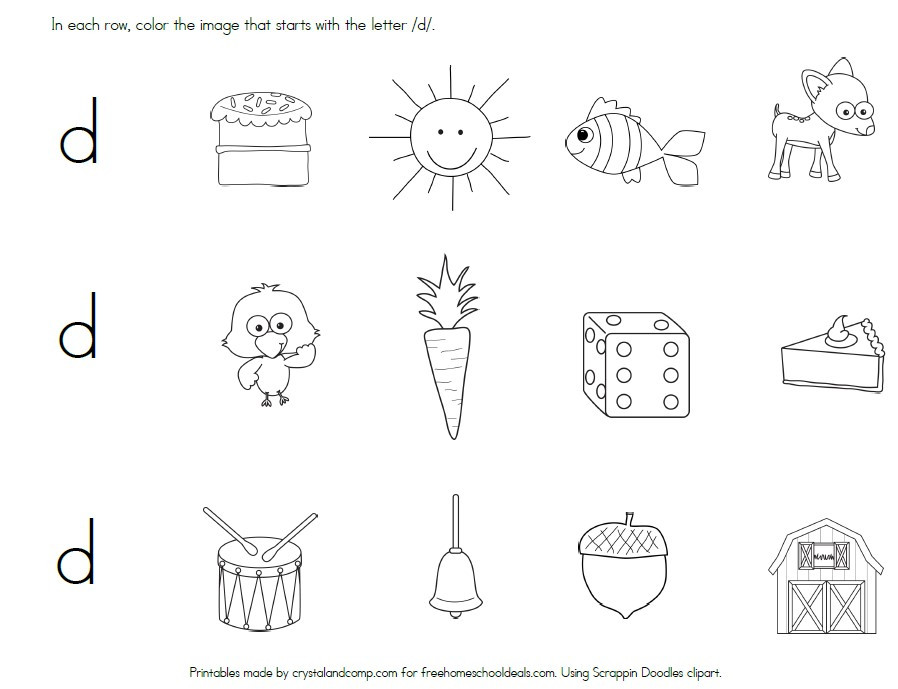 Letter D Worksheets Kindergarten Free Letter D Worksheets Instant Download
