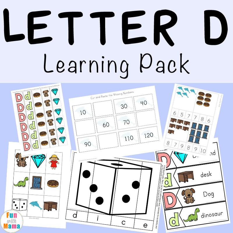 Letter D Learning Pack 2