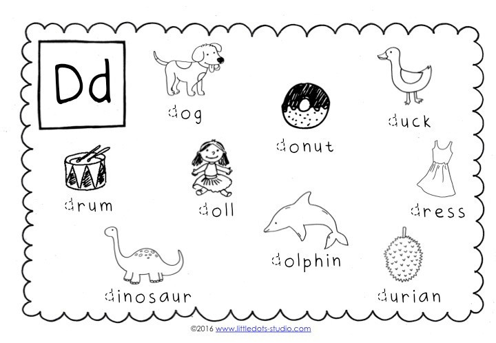 Letter D Worksheets Kindergarten Preschool Letter D Activities and Worksheets
