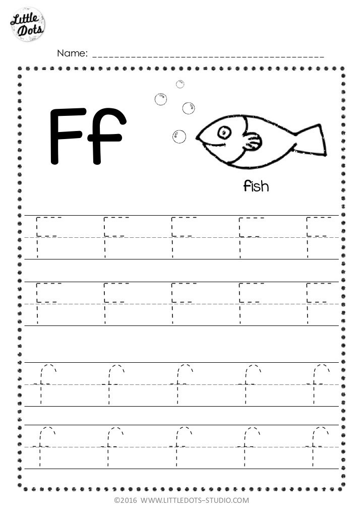 Letter F Phonics Worksheets Free Letter F Tracing Worksheets