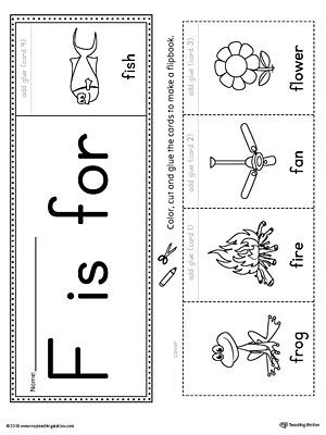 Letter F Phonics Worksheets Letter F Beginning sound Flipbook Printable