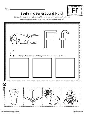 Letter F Phonics Worksheets Letter F Beginning sound Picture Match Worksheet