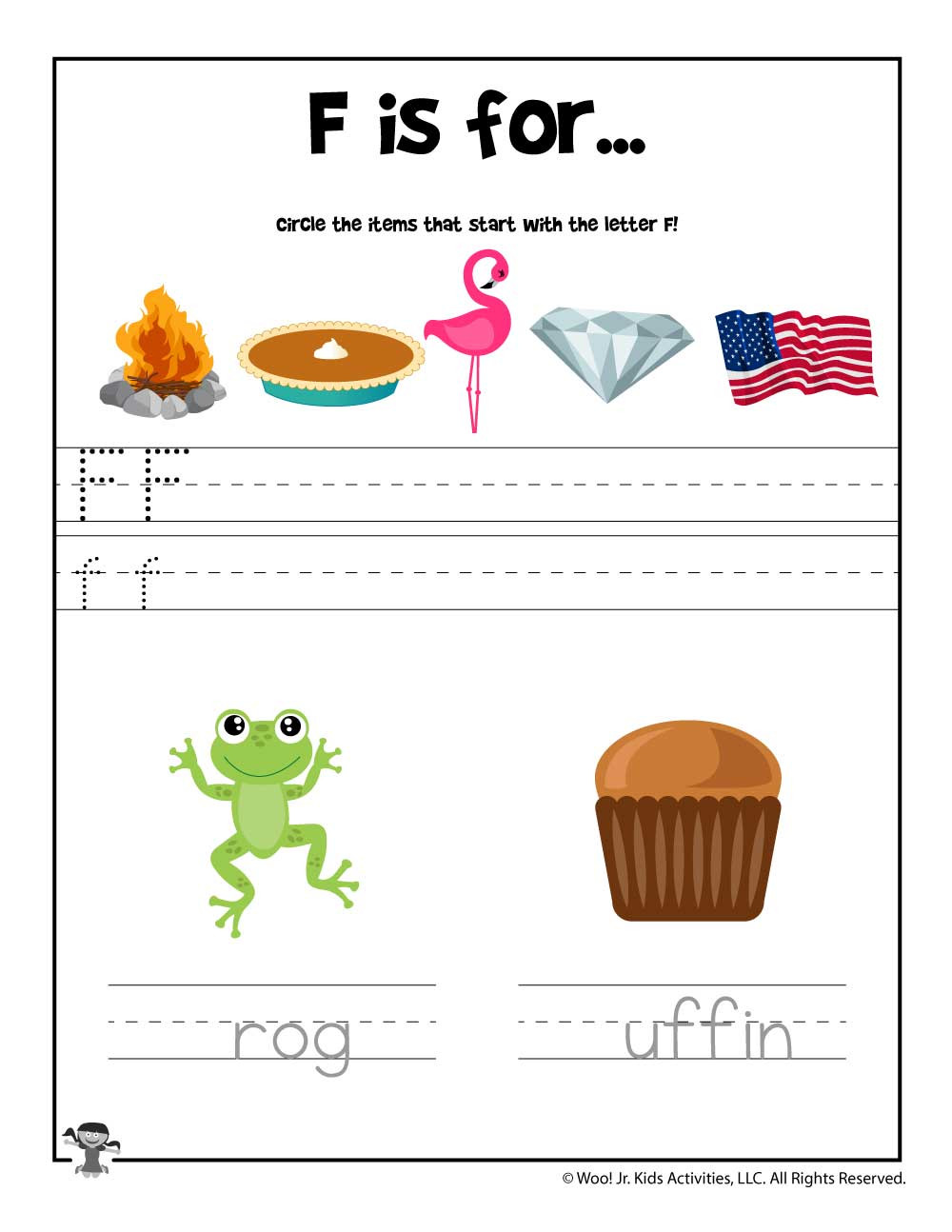Letter F Phonics Worksheets Letter F Phonics Recognition Worksheet