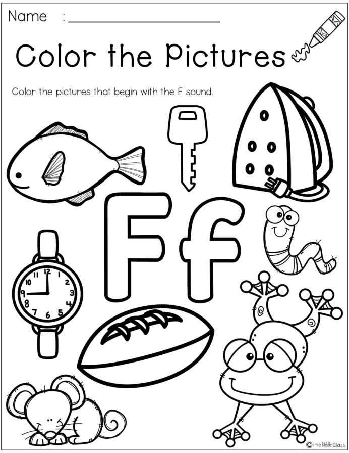 Letter F Phonics Worksheets Letter the Week Lettering Phonics Activities Worksheets