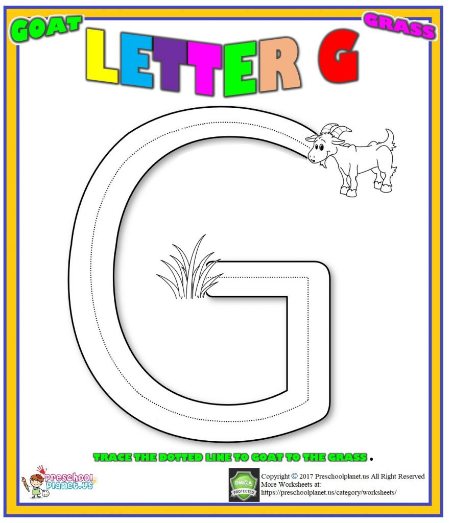 Letter G Worksheets for toddlers Letter G Worksheet for Preschool – Preschoolplanet