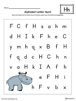 Letter H Worksheets Kindergarten Alphabet Letter Hunt Letter H Worksheet Color