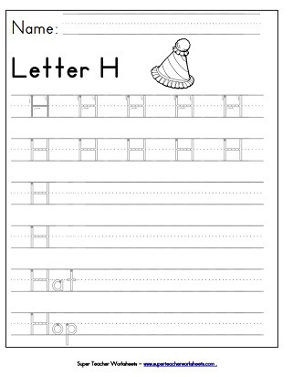 Letter H Worksheets Kindergarten Letter H Worksheets Recognize Trace & Print