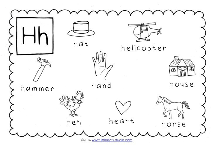Letter H Worksheets Kindergarten Preschool Letter H Activities and Worksheets