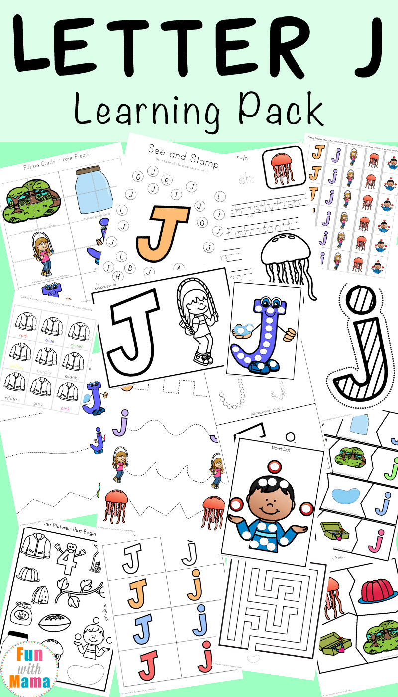 Letter J Worksheets for Kindergarten Letter J Worksheets Activities Fun with Mama