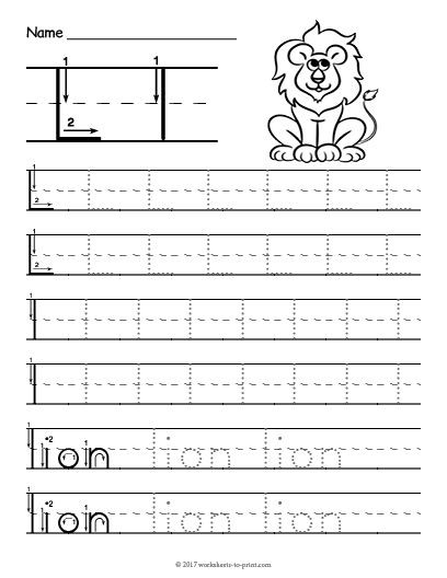 Letter L Preschool Worksheet Free Printable Tracing Letter L Worksheet
