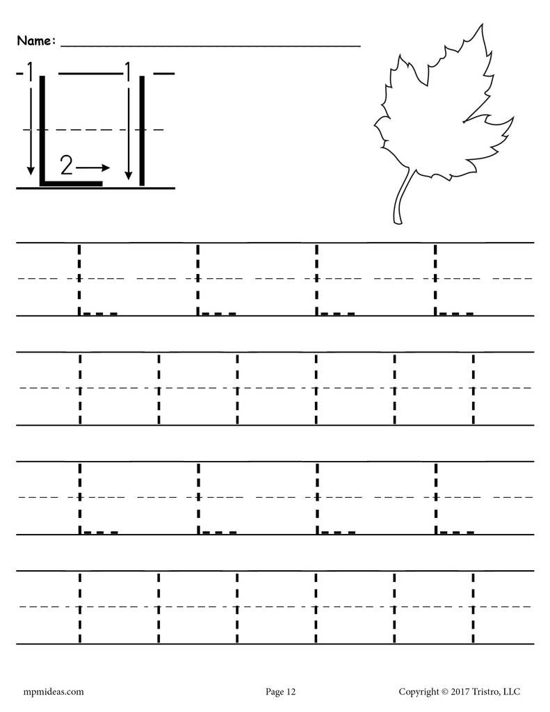 Letter L Preschool Worksheet Printable Letter L Tracing Worksheet