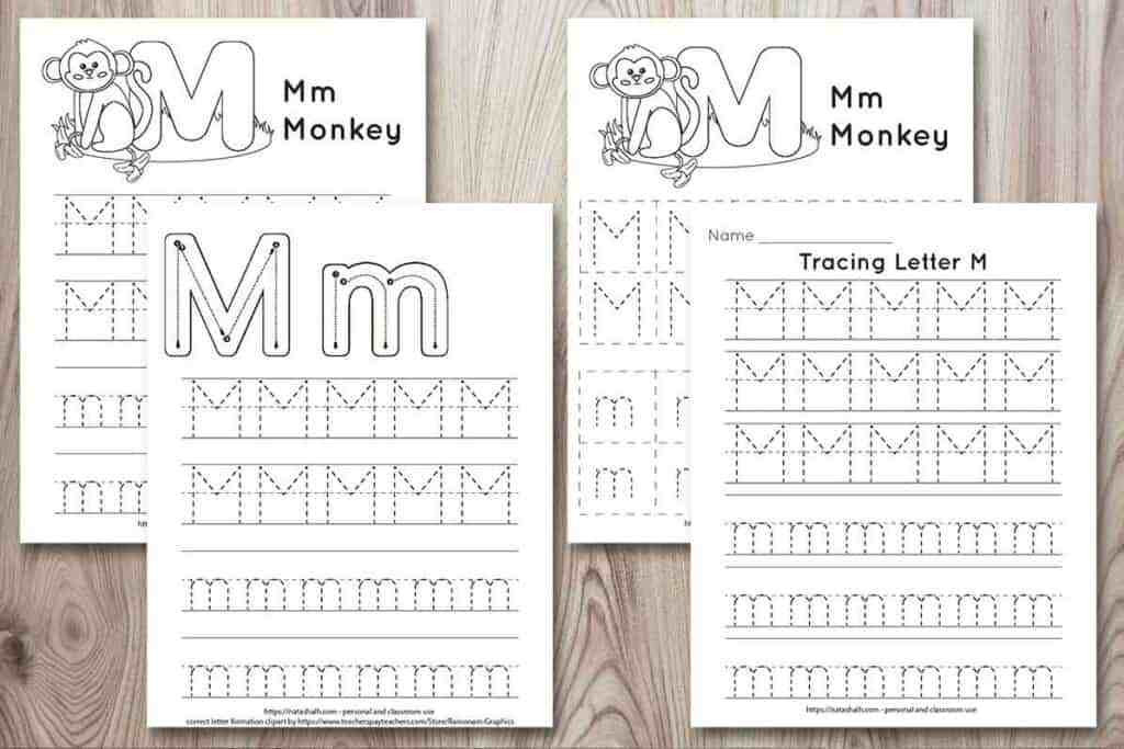 Letter M Tracing Worksheets Free Printable Letter M Tracing Worksheet M is for Monkey