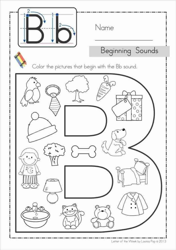 Letter Names and sounds Worksheets Free Back to School Alphabet Phonics Letter the Week