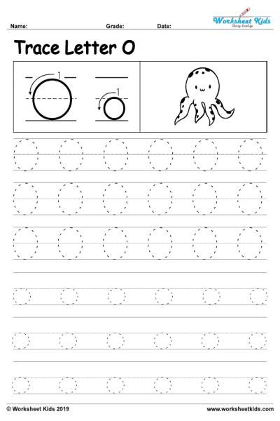 Letter O Preschool Worksheet Letter O Alphabet Tracing Worksheets Free Printable Pdf