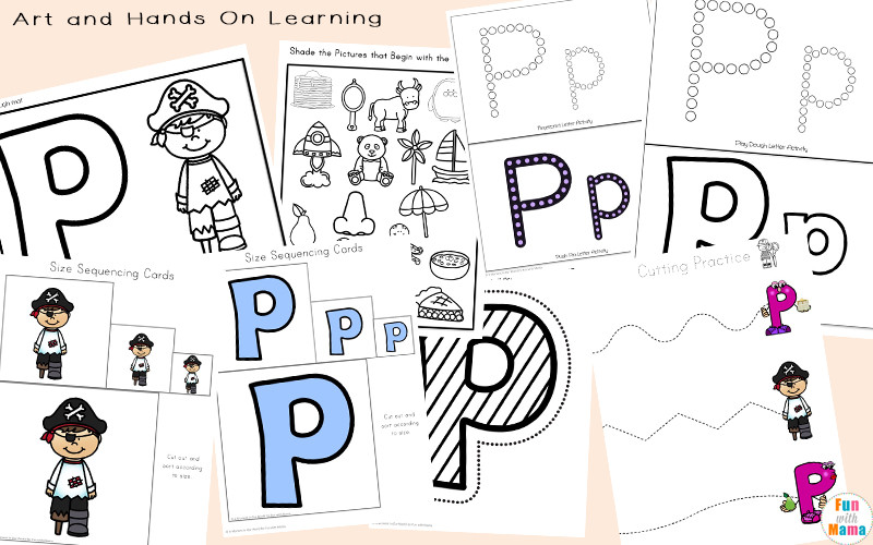 Letter P Worksheets for Kindergarten Letter P Worksheets Printables Fun with Mama