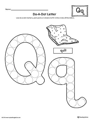 Letter Q Preschool Worksheets Letter Q Do A Dot Worksheet