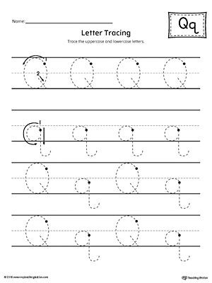 Letter Q Preschool Worksheets Letter Q Tracing Printable Worksheet