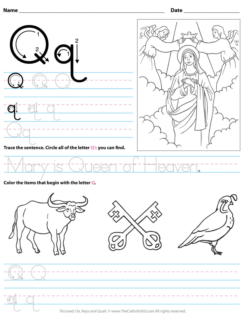 Letter Q Preschool Worksheets Worksheet Working Sheets forolers Image Inspirations