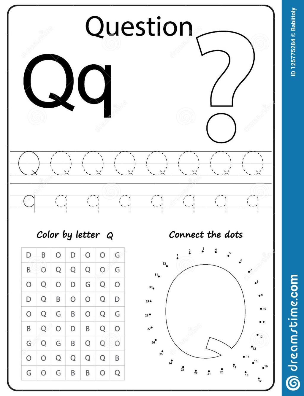 Letter Q Preschool Worksheets Worksheet Worksheet Alphabet Letter Q Task Kids Learning
