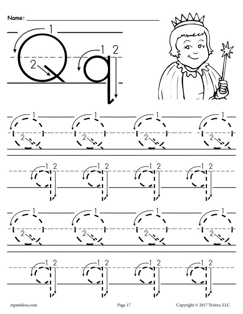 Letter 20Q 20Tracing 20Worksheet 20With 20Number 20and 20Arrow 20Guides 1024x1024