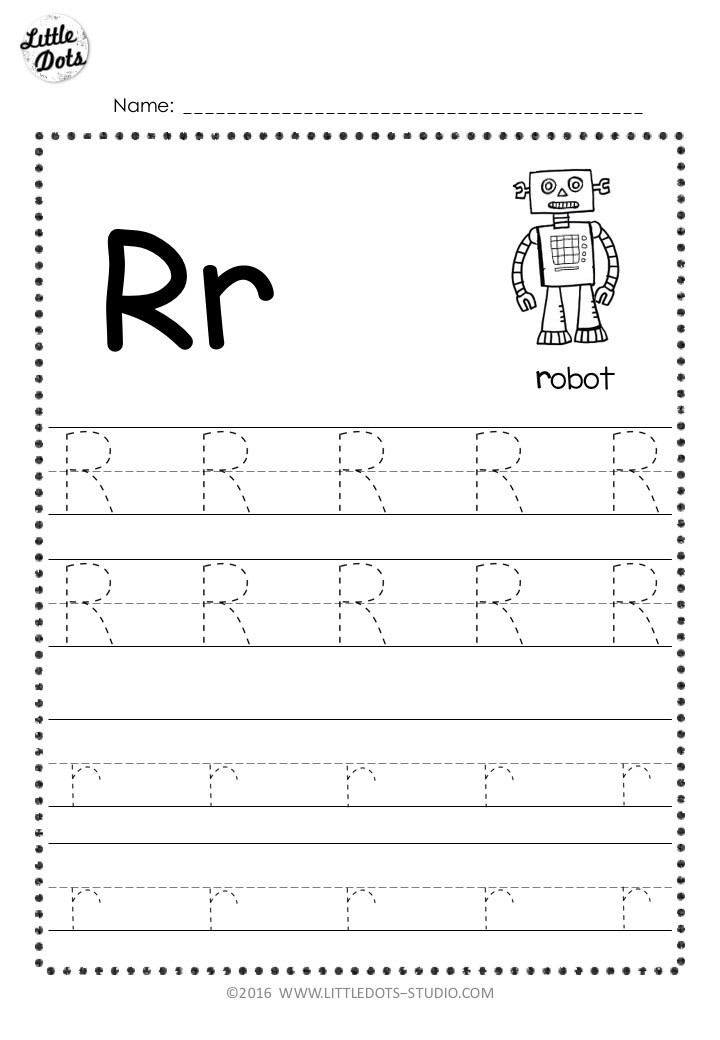 Letter R Worksheet for Kindergarten Free Letter R Tracing Worksheets