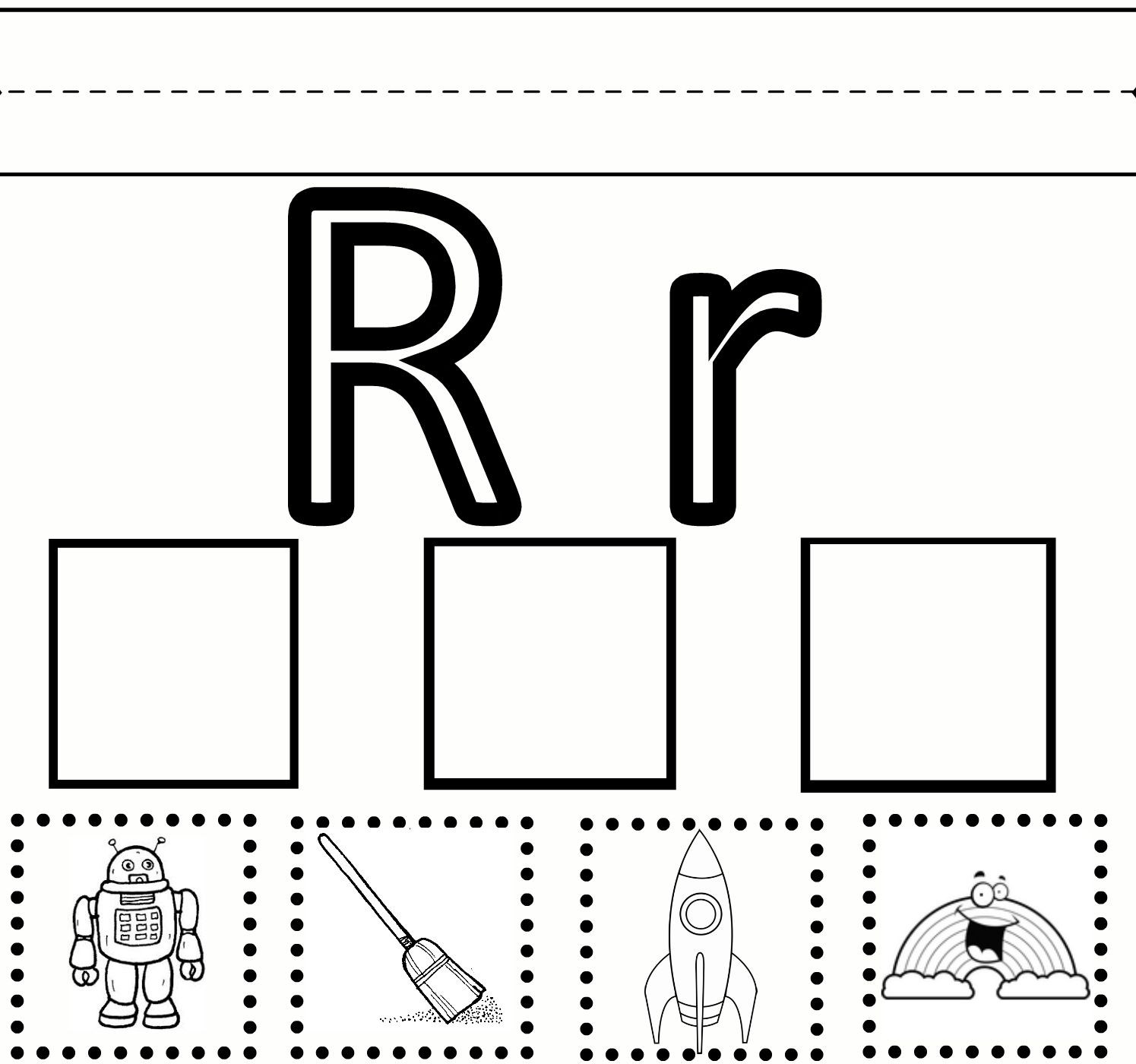 Letter R Worksheet for Kindergarten Letter R Preschool Worksheets