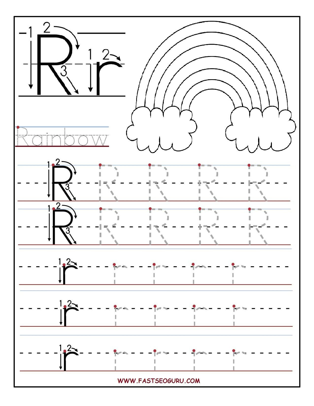 Letter R Worksheet for Kindergarten Printable Letter R Tracing Worksheets for Preschool