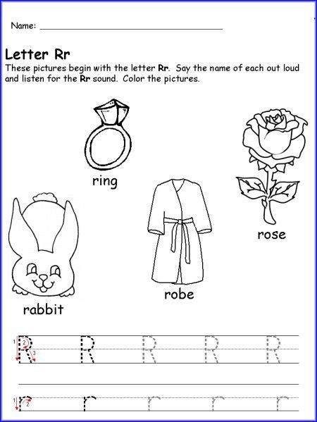 Letter R Worksheet for Kindergarten Writing Letter R Worksheet Kindergarten Pre K