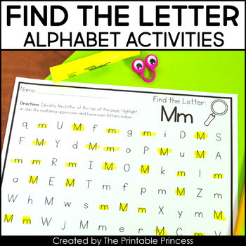 Letter Recognition Printable Worksheets Find the Letter Letter Recognition Worksheets