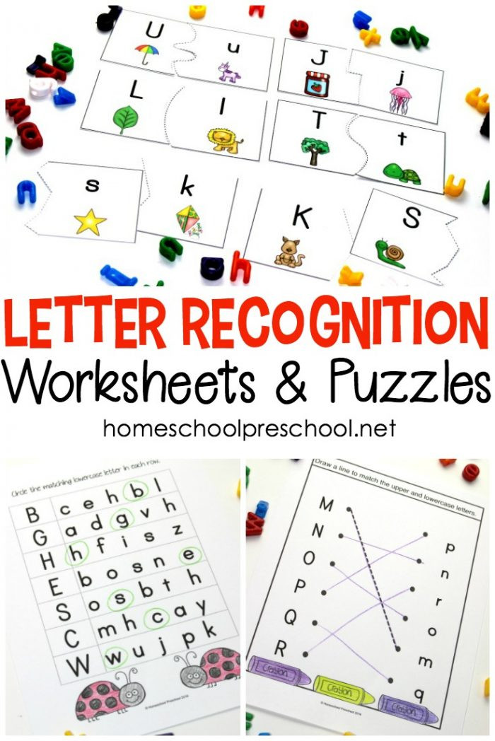 Letter Recognition Printable Worksheets Free Printable Letter Recognition Worksheets and Puzzles