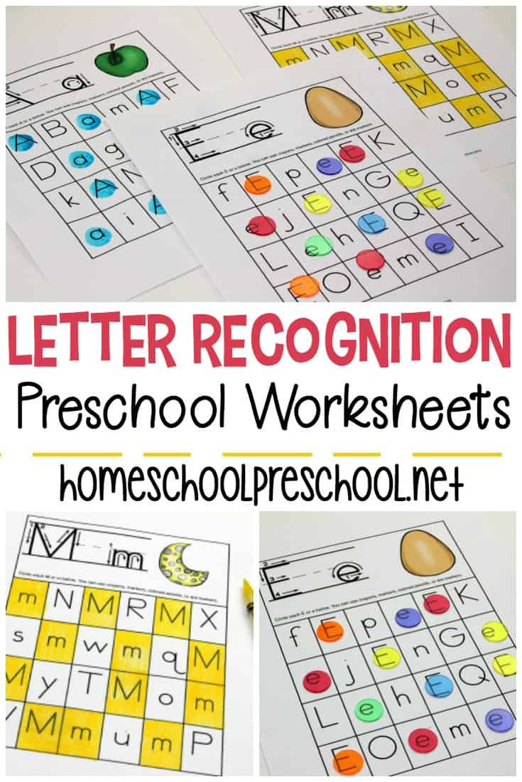 Letter Recognition Printable Worksheets Free Printable Letter Recognition Worksheets for Preschoolers