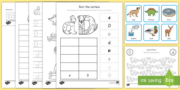 Letter sound Correspondence Worksheet Letter D Worksheet and Activity Pack Teacher Made