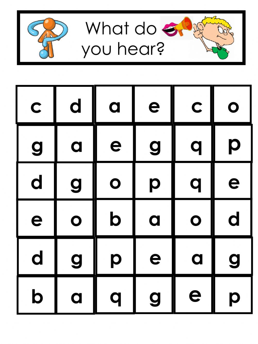 Letter sound Correspondence Worksheets Find the Letter E Worksheet