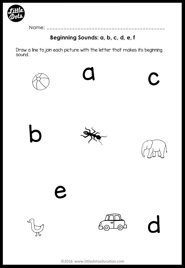 Letter sound Worksheets for Kindergarten Beginning sounds Worksheets and Activities