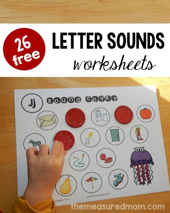 Letter sound Worksheets for Kindergarten Beginning sounds Worksheets the Measured Mom