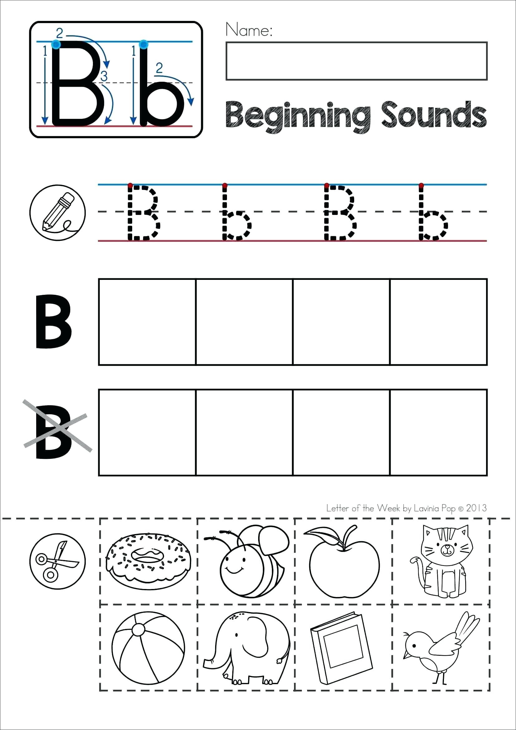 Letter sound Worksheets for Kindergarten Letter sound Worksheets for Print Letter sound Worksheets